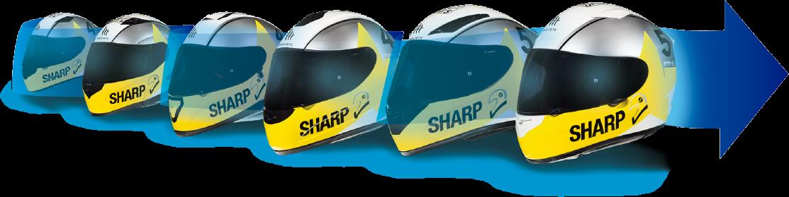 Test SHARP casti moto